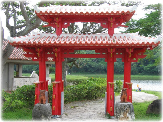 okinawa japan torii gate