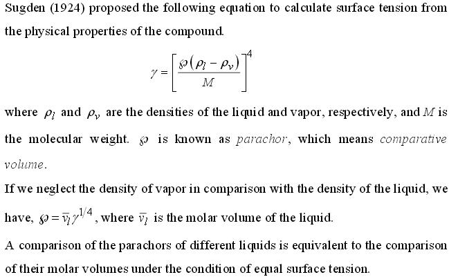 13 parachor method of measuring Surface Tension