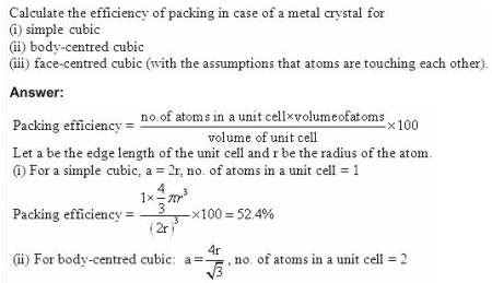 1.10a QA Solid State CBSE std 12 Solutions