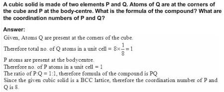 1.12 QA Solid State CBSE std 12 Solutions