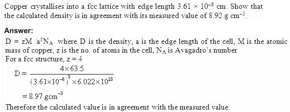 1.15 QA Solid State CBSE std 12 Solutions