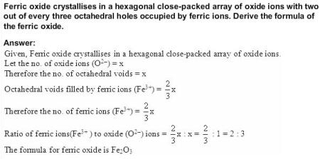 1.18 QA Solid State CBSE std 12 Solutions