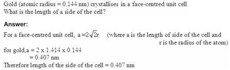 1.21 QA Solid State CBSE std 12 Solutions
