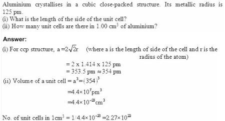 1.24 QA Solid State CBSE std 12 Solutions