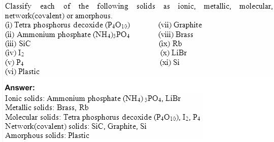 1.3 QA Solid State CBSE std 12 Solutions
