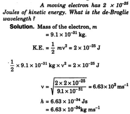 1 A moving electron has joules of energy