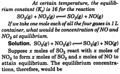 1 At certain temperature the equilibrium constant