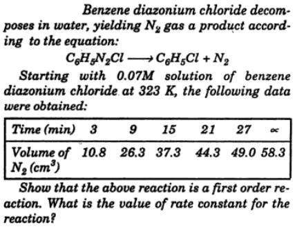 1 Benzene diazonium chloride decomposes in water