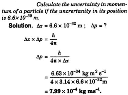 1 Calculate the uncertainty in momentum of a particle