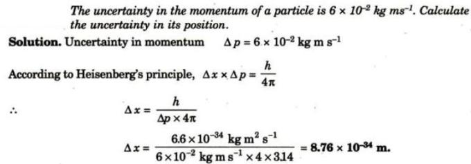 1 Calculate uncertainty in position