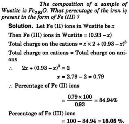 1 composition of a sample of Wustite
