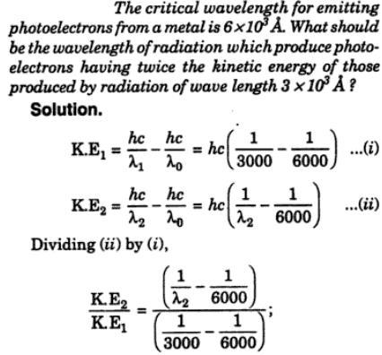 1 Critical wavelength for emitting photoelectrons