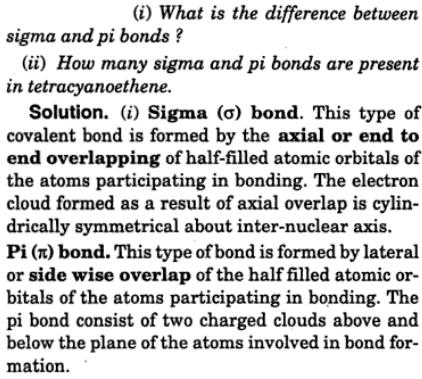1 difference between sigma and Pi bond