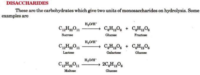 1 Disaccharides