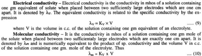 1 Electrical and Molecular conductivity