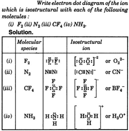 1 electron dot diagram of the ion isostructural with