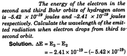 1 energy of electron in 2nd and 3rd Bohr orbit