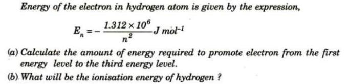 1 Energy of electron in Hydrogen