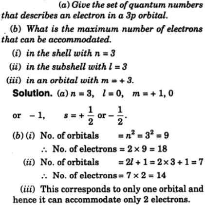 1 Give the set of quantum numbers that describe