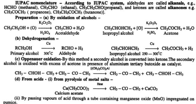 1 IUPAC naming rules of aldehydes ketones