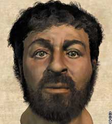 1 Jesus Christ most probable face computer generated