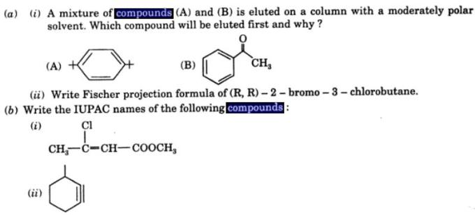 1 Mixture of compounds A and B eluted on a column