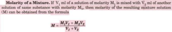 1 Molarity of a Mixture