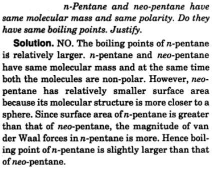 1 n-pentane and neo pentane hv same molecular mass
