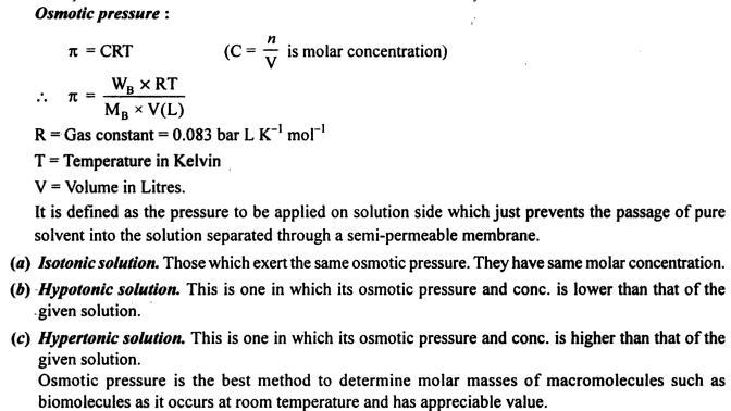 1 Osmotic pressure