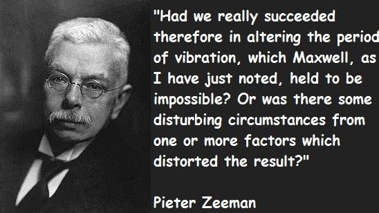 1 Pieter Zeeman