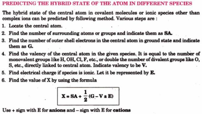 1 Predicting the hybrid state of the atom