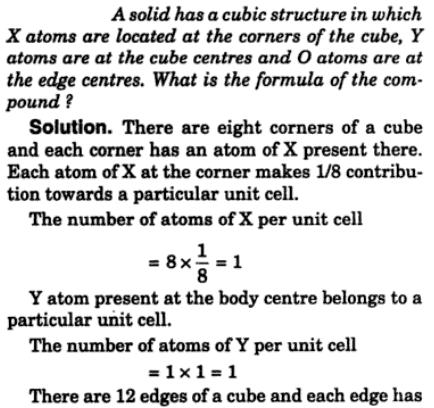 1 Solid has cubic structure x atoms located