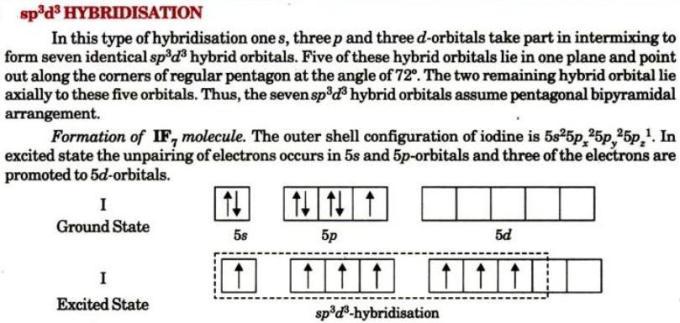 1 sp3d3 hybridization
