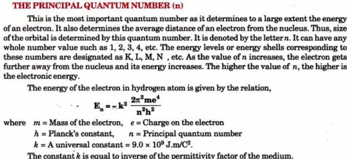 1 The Principal Quantum Number