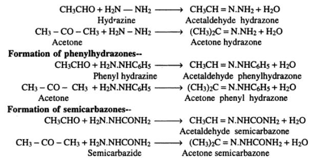 1 Various reactions of Aldehydes