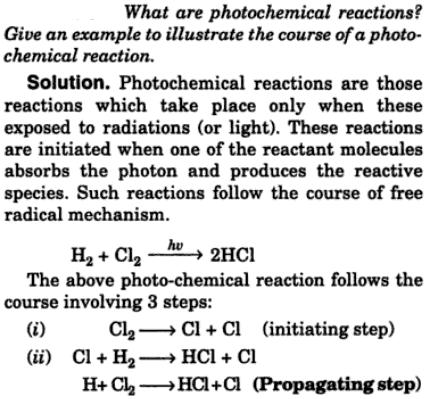 1 what are photochemical reactions