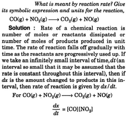 1 what is meant by reaction rate
