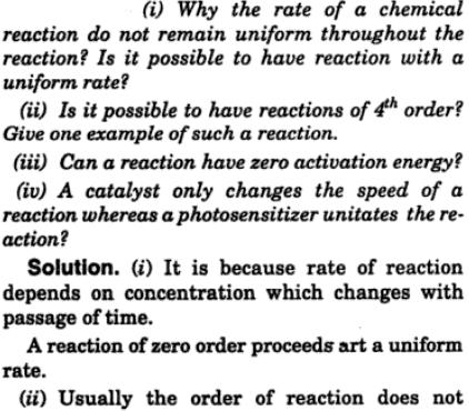 1 Why the rate of a chemical reaction do not remain