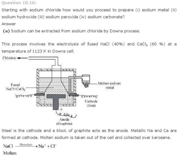 10.16a CBSE std 11 s Block Solution