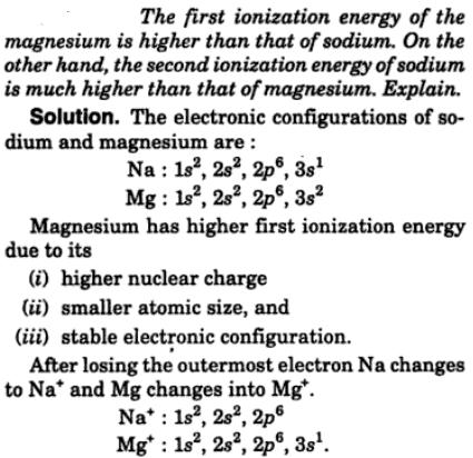 10 1st ionization energy of Mg is higher than