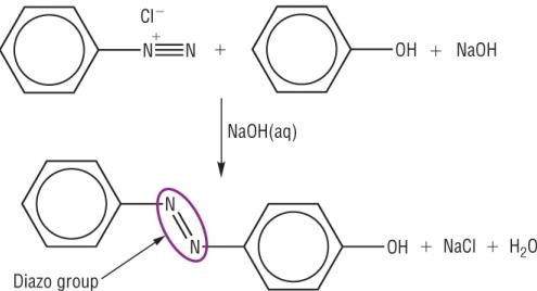 10 Benzenediazoniumchloride reactions