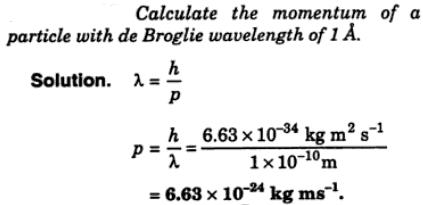 10 Calculate the momentum of a particle with de