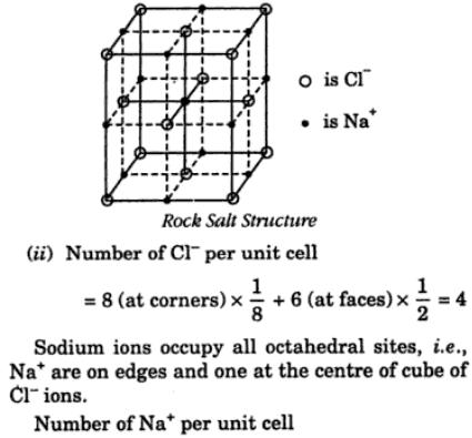 10 Draw unit cell of NACl structure