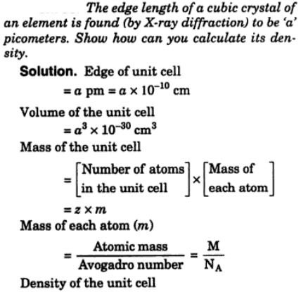 10 edge length of a cubic crystal