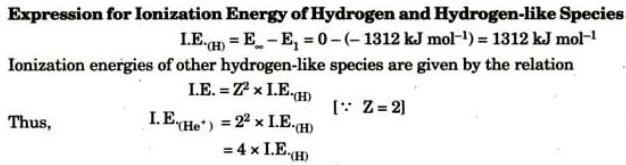 10 Expression for ionisation energy of Hydrogen
