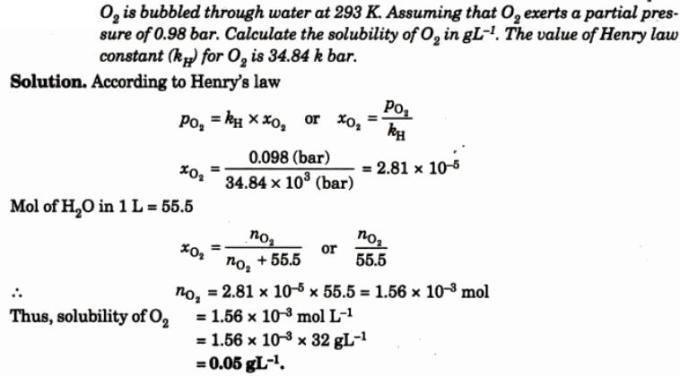 10 O2 is bubbled through water
