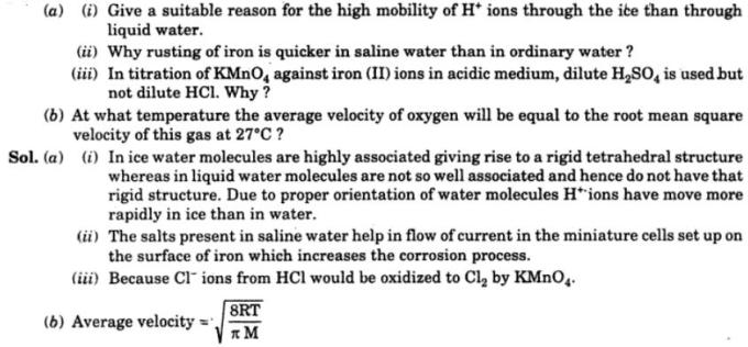 10 Why H+ ions have high mobility