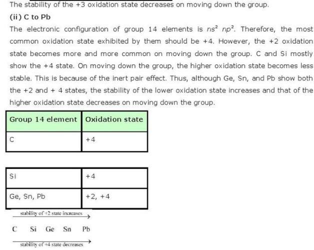 11.1b p-Block CBSE standard 11 Solutions