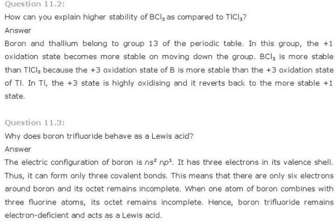 11.2-3 p-Block CBSE standard 11 Solutions