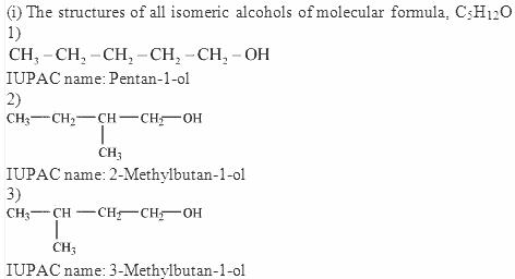 11.3-1 Ans Alcohols IUPAC names